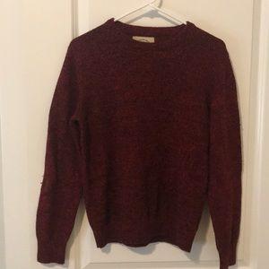 Red Wool Crewneck Sweater